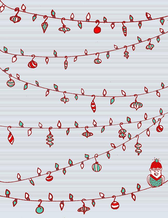 Christmas Lights Christmas Card « MalloryNall